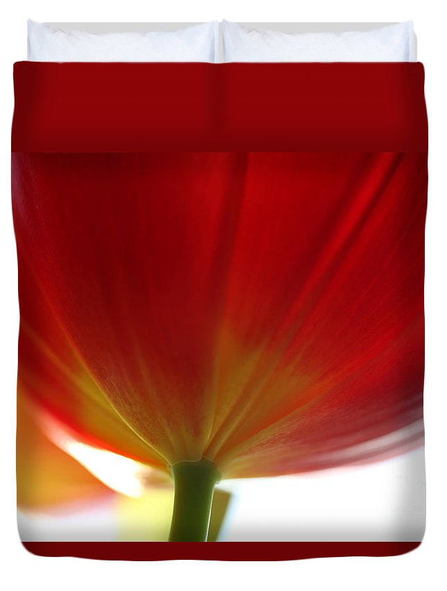 Tulip Duvet Cover featuring the photograph New Day by Amanda Barcon