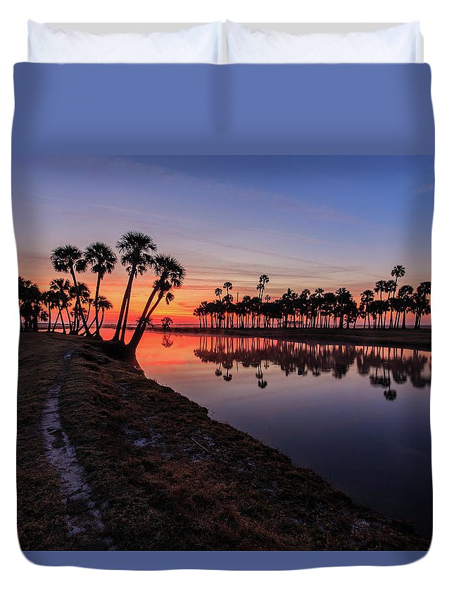 Florida Duvet Cover featuring the photograph New Day At Econ River by Stefan Mazzola