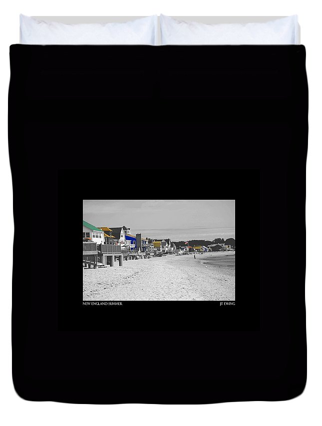 Summer Duvet Cover featuring the photograph New England Summer by J Todd