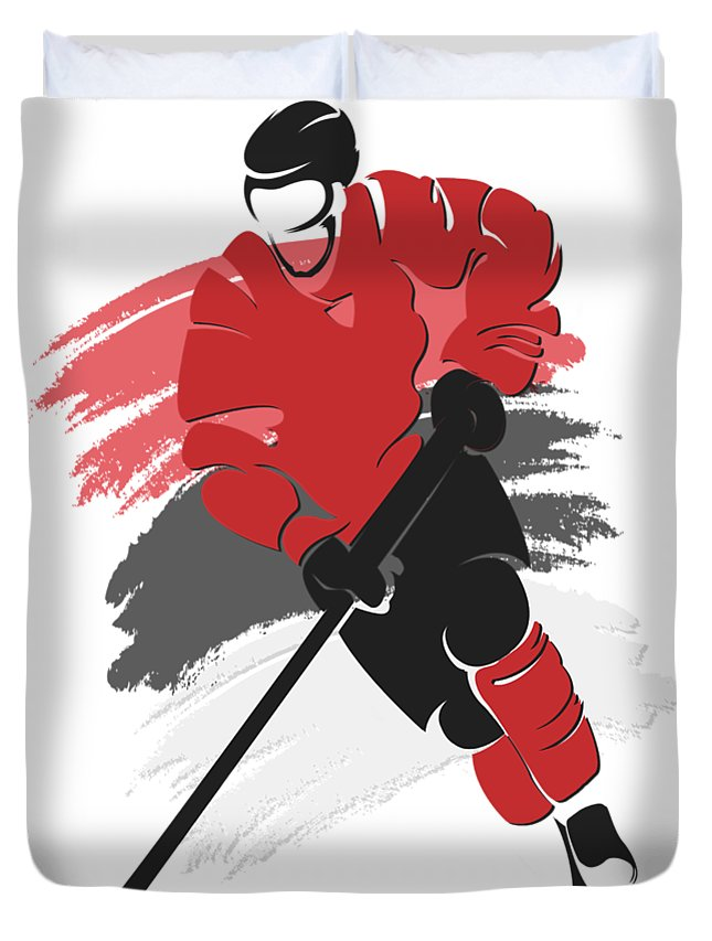 New Jersey Devils Player Shirt Duvet Cover For Sale By Joe