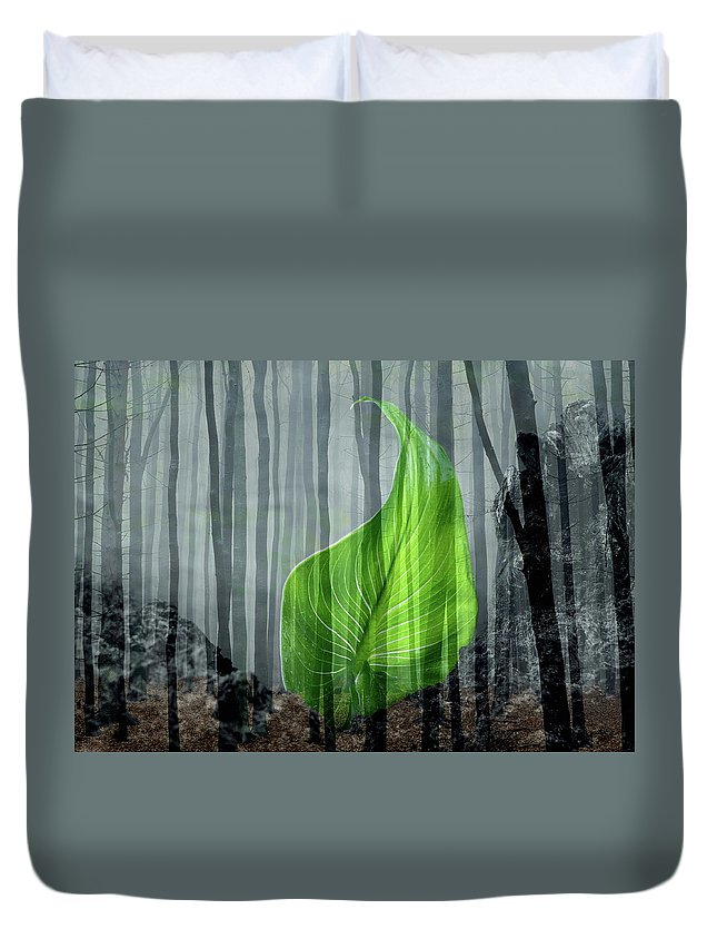 Life Duvet Cover featuring the photograph New Life by Manfred Lutzius