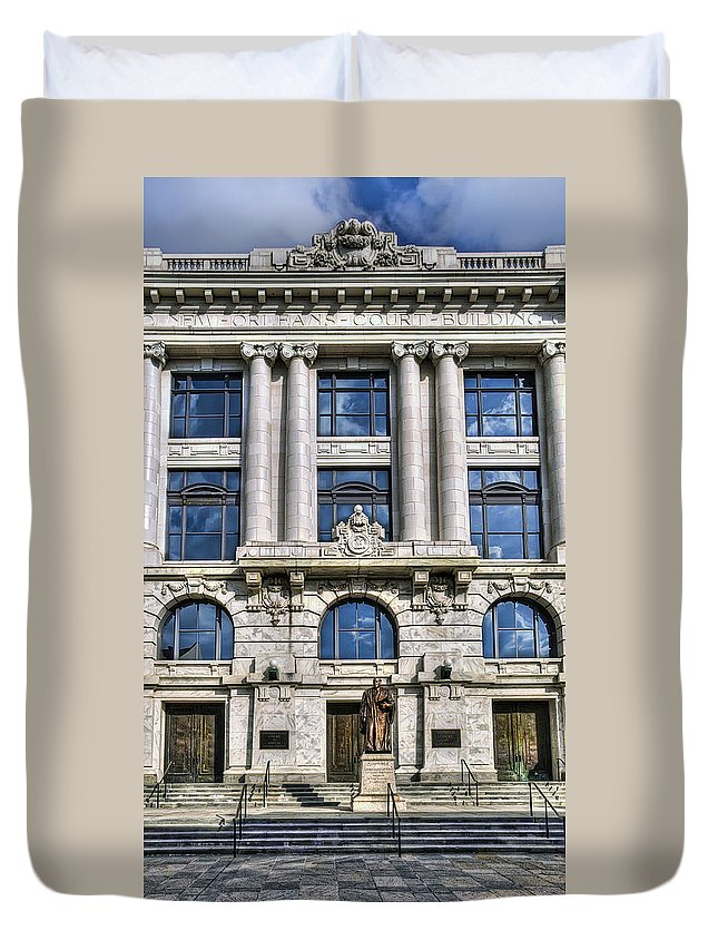 New Orleans Duvet Cover featuring the photograph New Orleans Court Building by Tammy Wetzel
