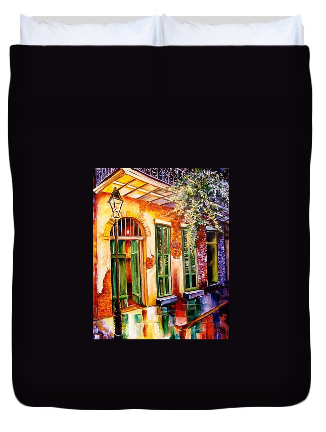 New Orleans Duvet Cover featuring the painting New Orleans Mystery by Diane Millsap