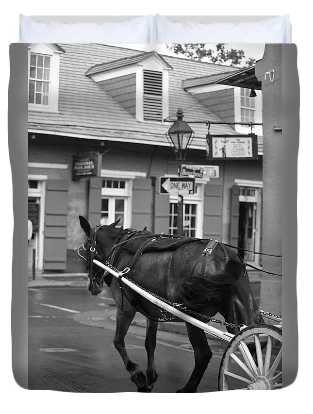 America Duvet Cover featuring the photograph New Orleans Street Photography 3 by Frank Romeo
