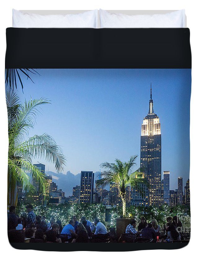 230 Duvet Cover featuring the photograph New York 230 Fith Rooftop Bar by Juergen Held