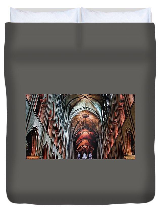 New York Duvet Cover featuring the photograph New York, Church by Peter Karakehayov