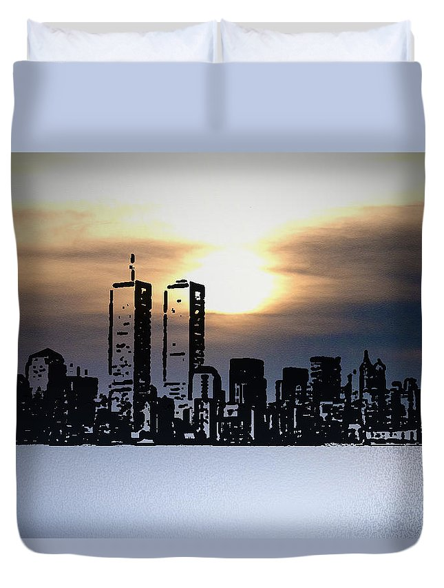 New York Duvet Cover featuring the photograph New York City - The Way We Were by Bill Cannon
