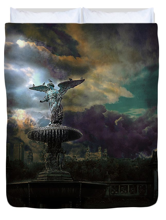 New York Duvet Cover featuring the photograph New York Series Number 3 by Jeff Burgess
