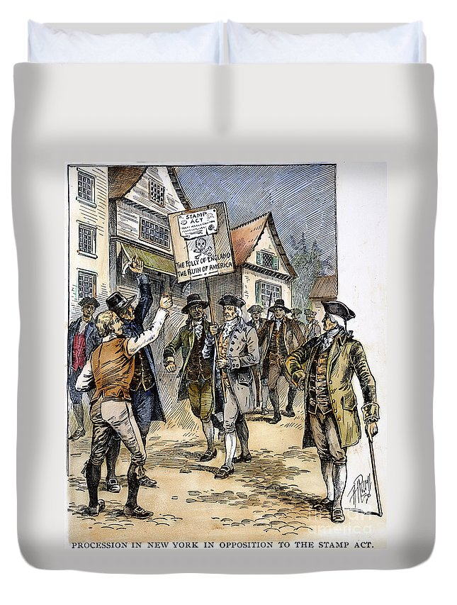 1765 Duvet Cover featuring the photograph New York: Stamp Act , 1765 by Granger