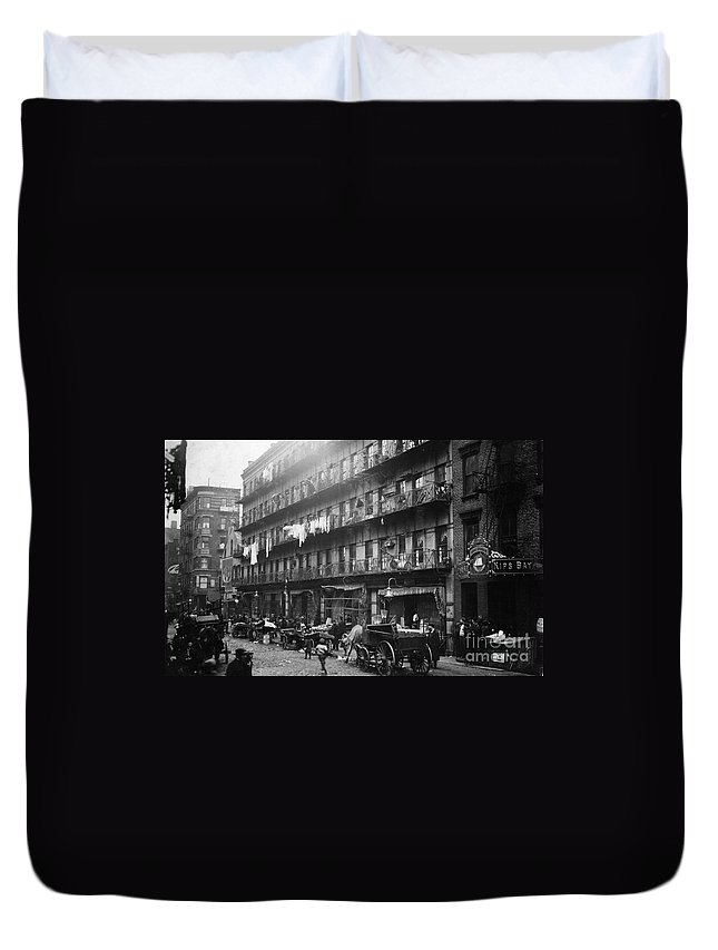 1912 Duvet Cover featuring the photograph New York: Tenements, 1912 by Granger