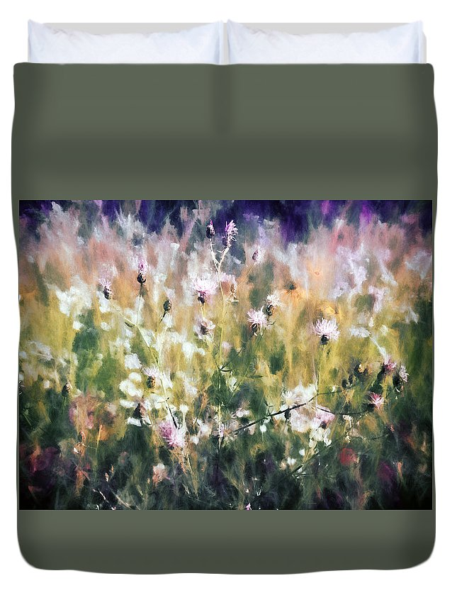 Flowers Duvet Cover featuring the photograph New York Wildflowers Xvii by Tina Baxter