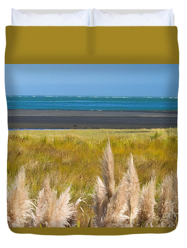 Afternoon Duvet Cover featuring the photograph New Zealand by Tomas del Amo - Printscapes