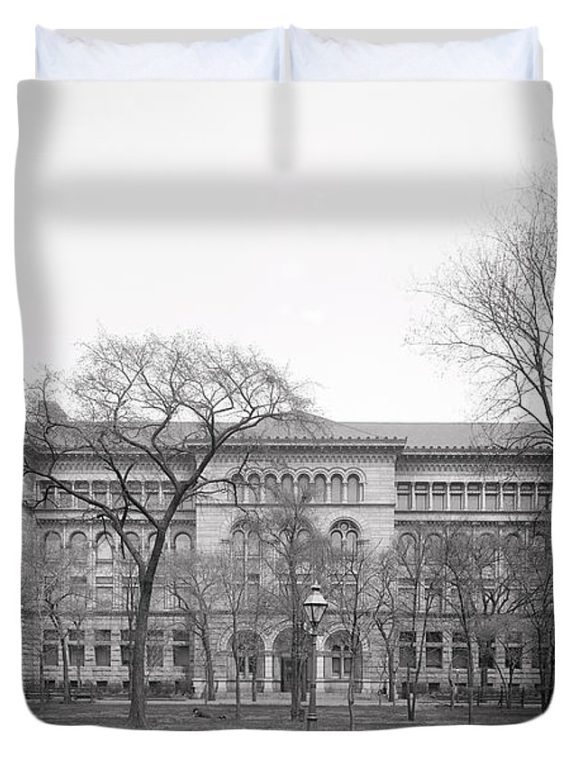 U Of Chicago Duvet Cover featuring the photograph Newberry Library - University Of Chicago C. 1900 by Daniel Hagerman