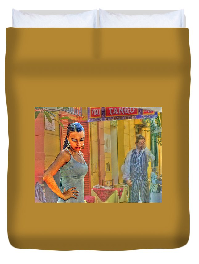 Tango Duvet Cover featuring the photograph Next Steps by Francisco Colon