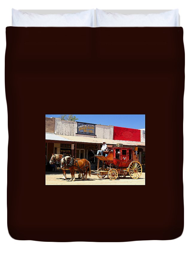 Stage Duvet Cover featuring the photograph Next Stop Bisbee by Joe Kozlowski