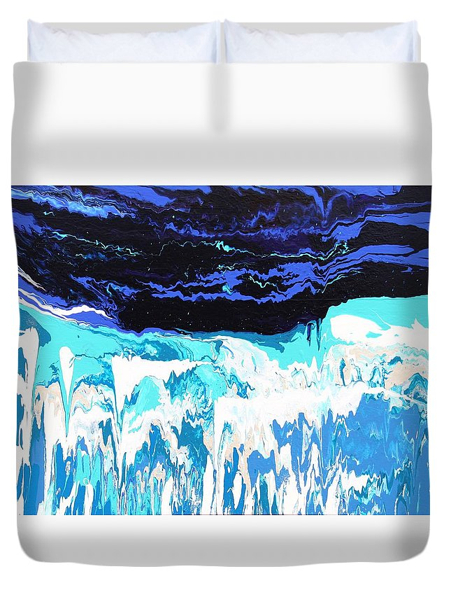 Fusionart Duvet Cover featuring the painting Niagara by Ralph White