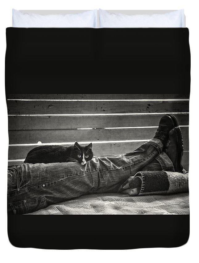 Photo Duvet Cover featuring the photograph Nice Place If You Can Get It by Philippe Taka