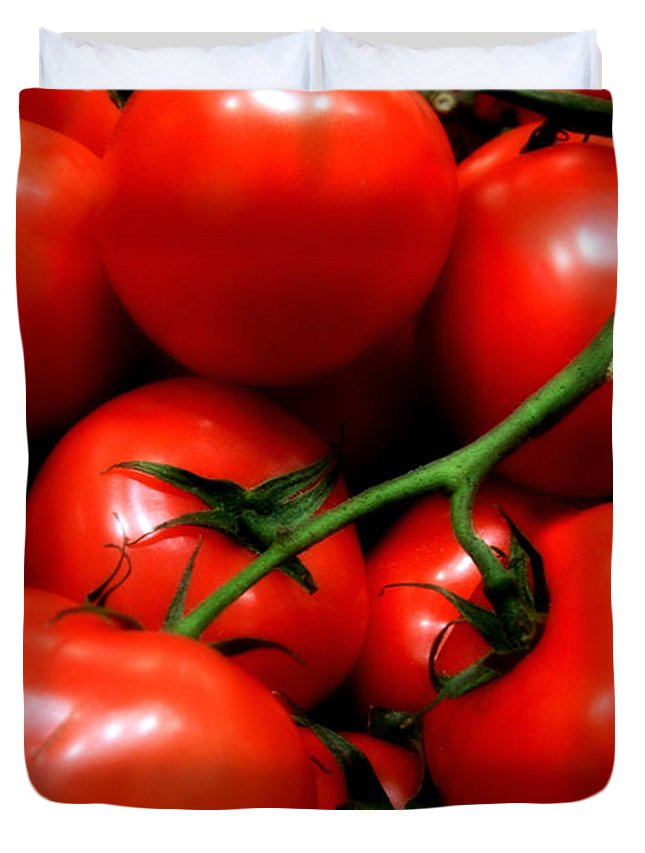 Food Duvet Cover featuring the photograph Nice Tomatoes Baby by RC DeWinter