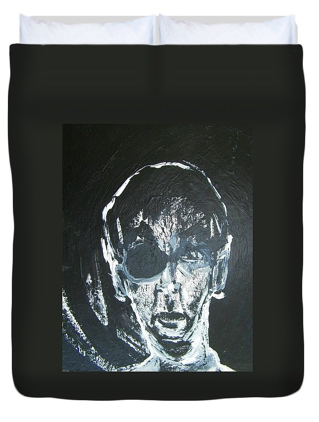 Abstract Duvet Cover featuring the painting Nicholas by Judith Redman