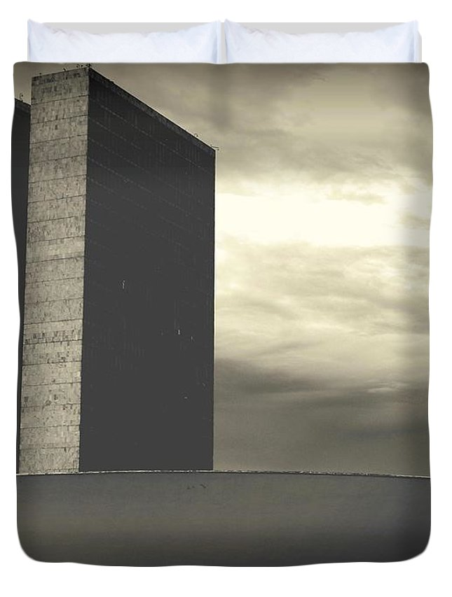 Brasilia Duvet Cover featuring the photograph Niemayer by Beto Machado