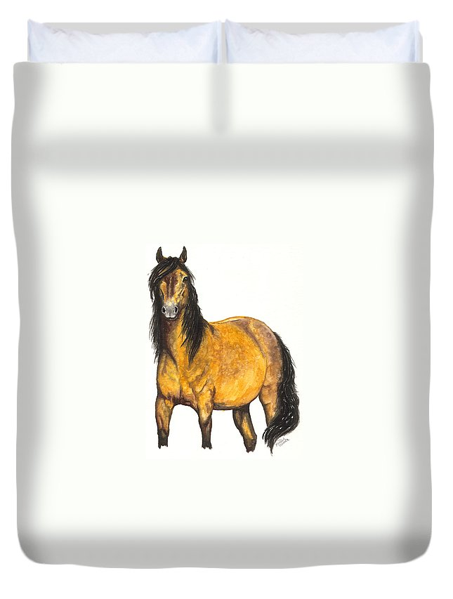Horse Duvet Cover featuring the painting Nifty by Kristen Wesch
