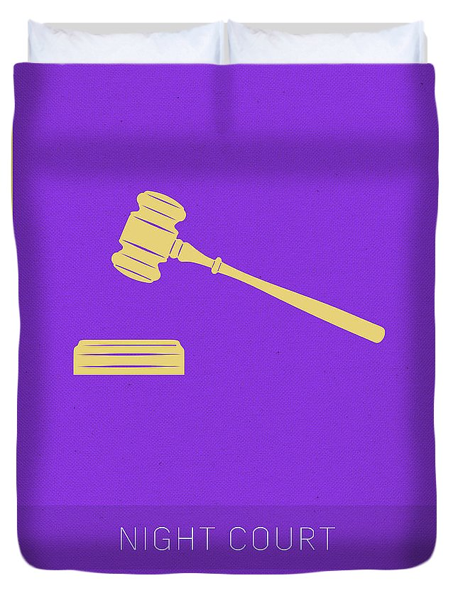 Night Court Duvet Cover featuring the mixed media Night Court My Favorite Tv Shows Series 019 by Design Turnpike
