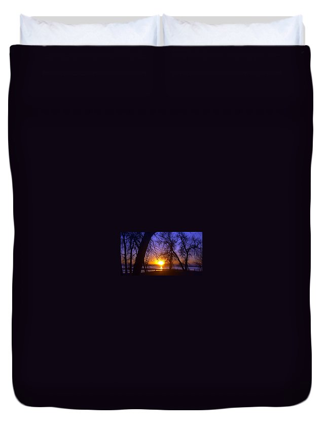 Barr Lake Duvet Cover featuring the photograph Night In Barr Lake Colorado by Merja Waters