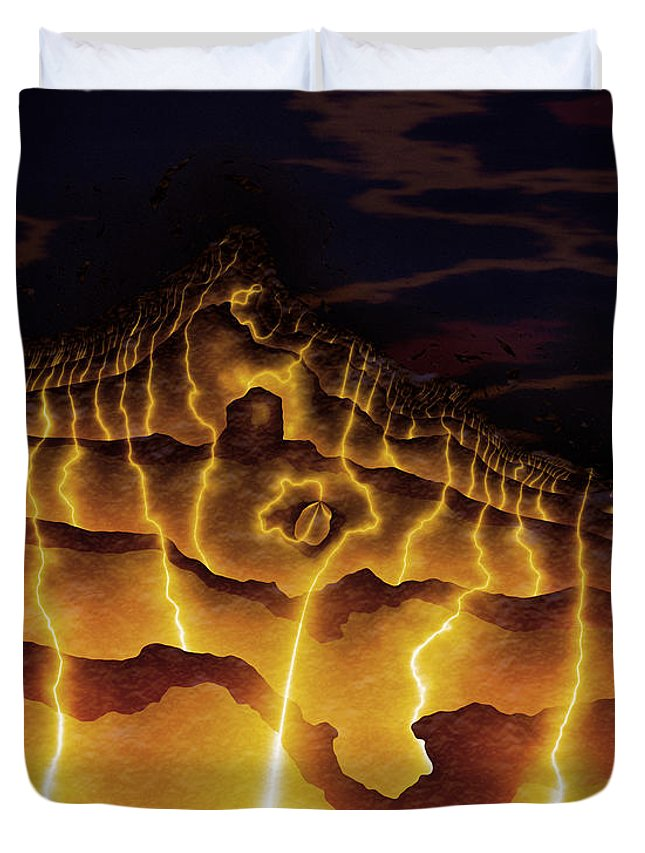 Vic Eberly Duvet Cover featuring the digital art Night On Bald Mountain by Vic Eberly