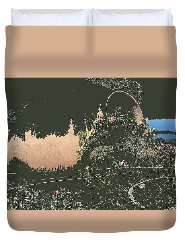 Abstract Duvet Cover featuring the photograph Night by Radulescu Adriana Lucia