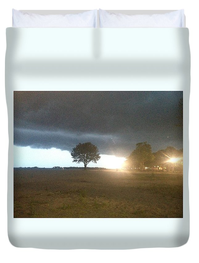 Night Storm Duvet Cover featuring the photograph Night Storm by Michael Murray
