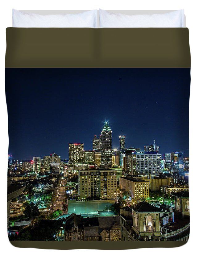 Atlanta Duvet Cover featuring the photograph Night View 2 by Kenny Thomas