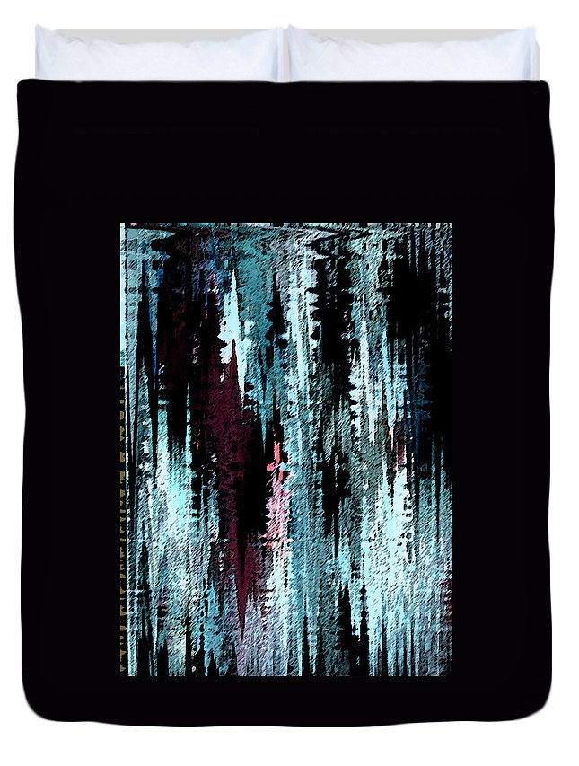Abstract Duvet Cover featuring the digital art Night Walker by Lenore Senior