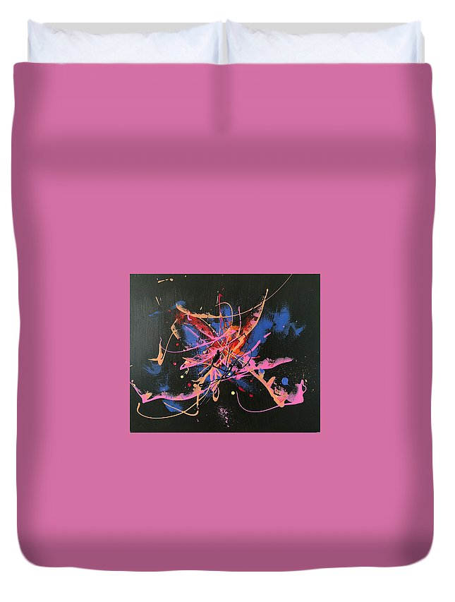 Original Duvet Cover featuring the painting Night by Yueer Xu
