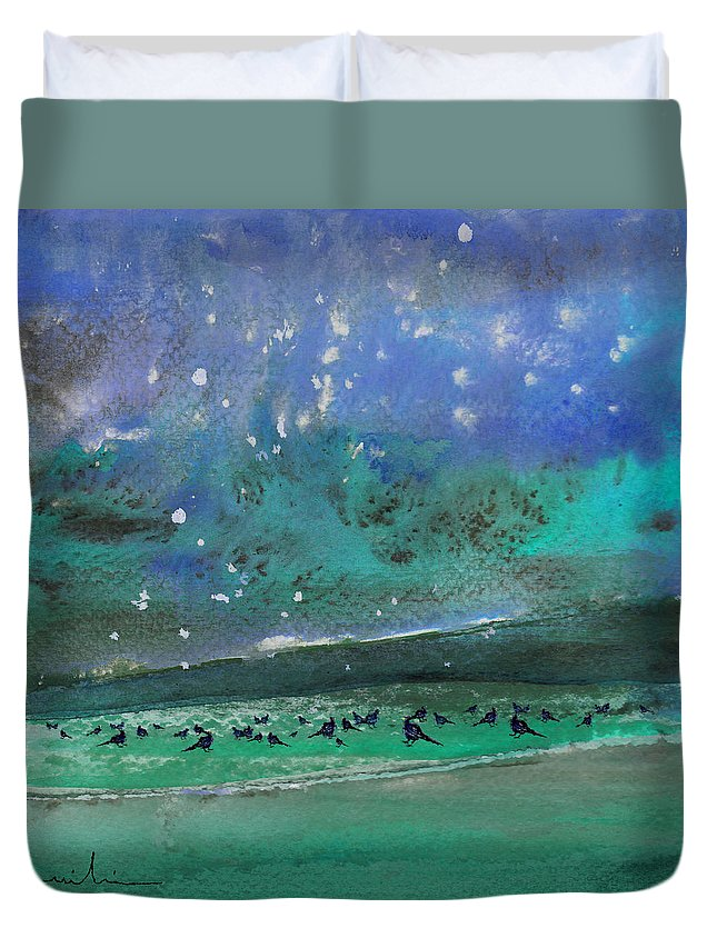 Impressionism Duvet Cover featuring the painting Nightfall 25 by Miki De Goodaboom