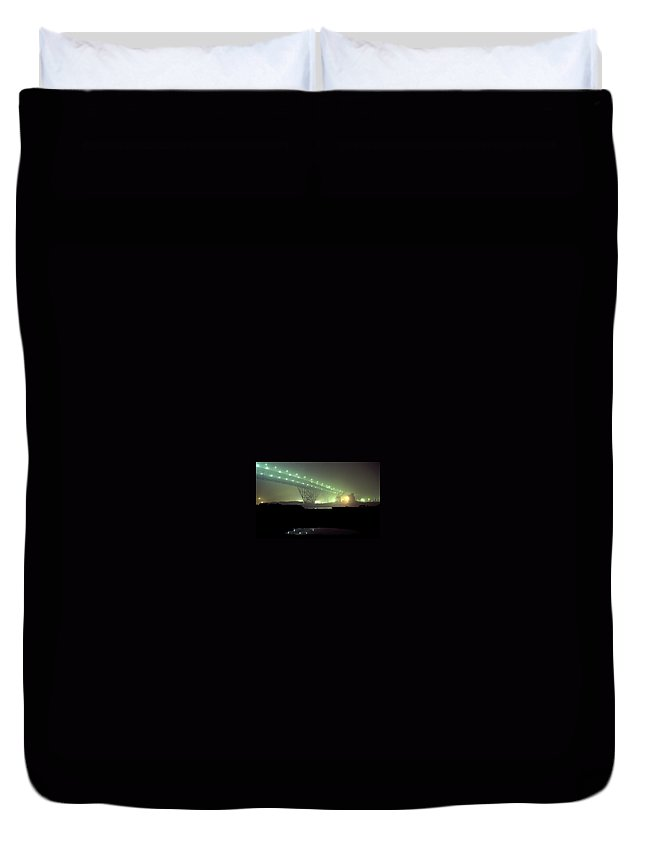 Night Photo Duvet Cover featuring the photograph Nightscape 3 by Lee Santa