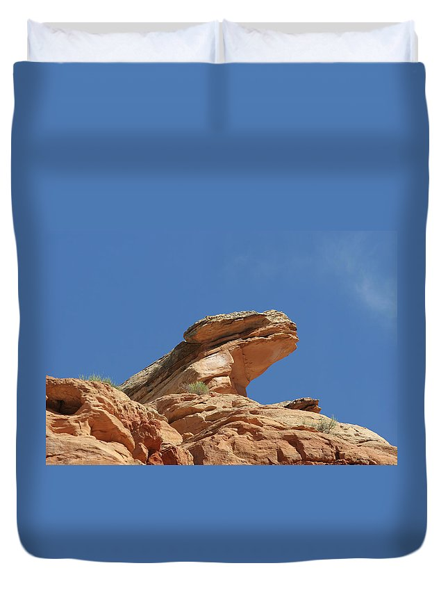 Landscape Art Duvet Cover featuring the photograph Nine Mile Canyon Utah by Christine Till