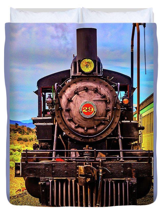 Virgina & Truckee Duvet Cover featuring the photograph No 29 Virgina Truckee Train by Garry Gay