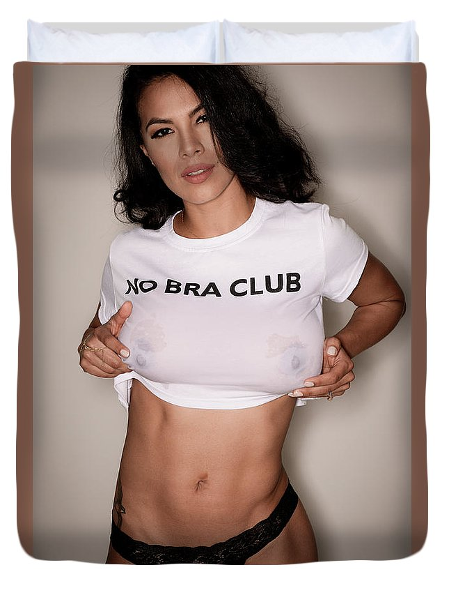 80e7e7ce18 No Bra Club Duvet Cover for Sale by Jt PhotoDesign