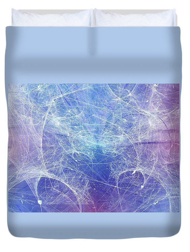 Art Duvet Cover featuring the digital art No Exit by Jeff Iverson