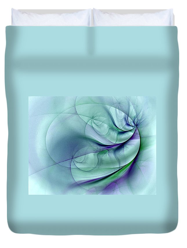 Contemporary Duvet Cover featuring the digital art No More To Roam by NirvanaBlues