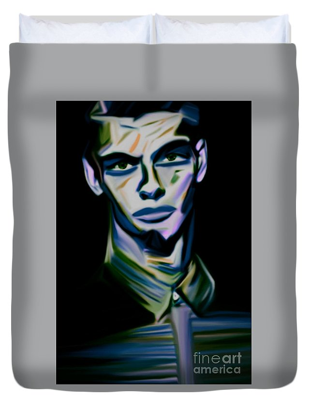 Beauty Duvet Cover featuring the painting No Name 2 by Felix Von Altersheim