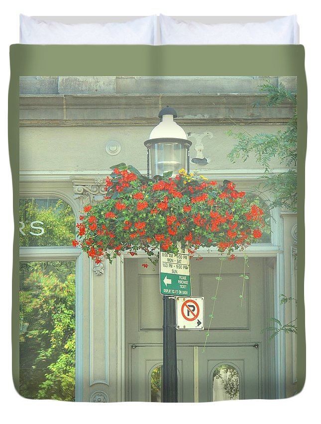 Duvet Cover featuring the photograph No Parking by Ian MacDonald