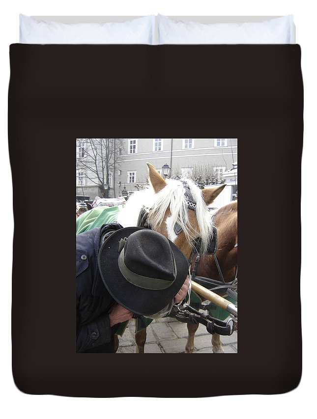 Man Duvet Cover featuring the photograph No Secrets by Mary Rogers