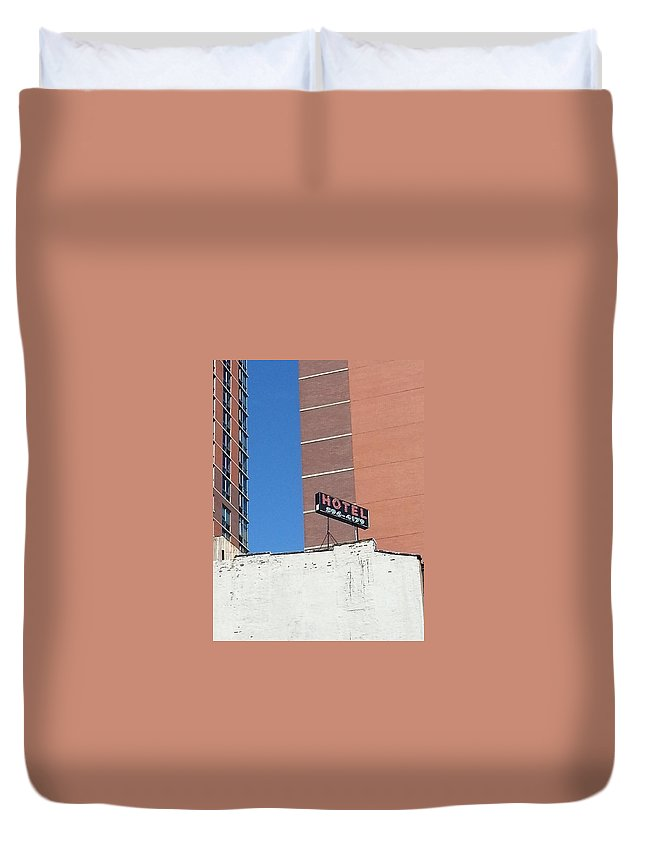 Photography Duvet Cover featuring the photograph No Tell Motel by Jayne Surrena