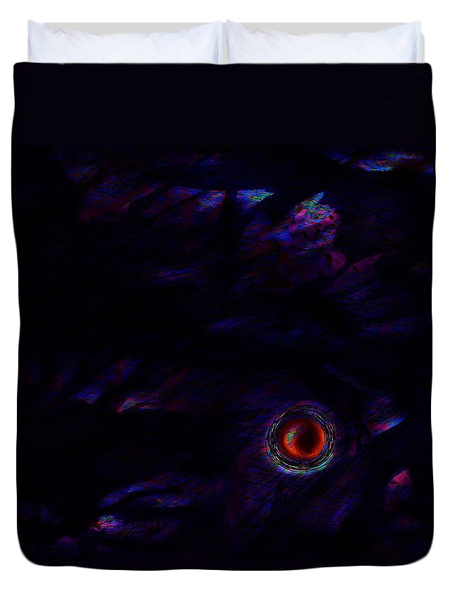 Abstract Duvet Cover featuring the digital art No Turning Back by Rachel Christine Nowicki
