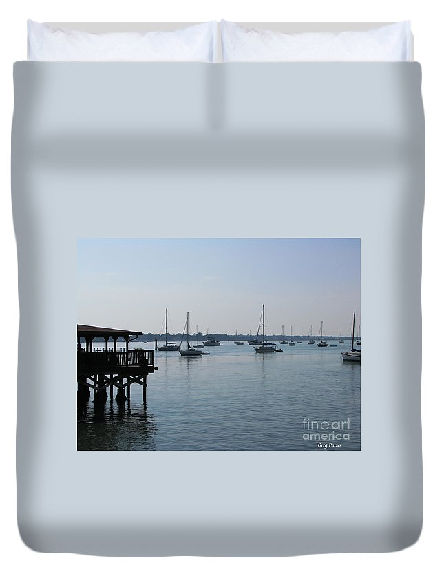Art For The Wall...patzer Photography Duvet Cover featuring the photograph No Wind by Greg Patzer