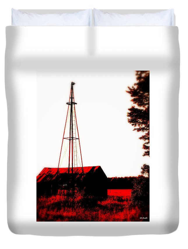 No Wind No Water Duvet Cover featuring the photograph No Wind No Water by Ed Smith