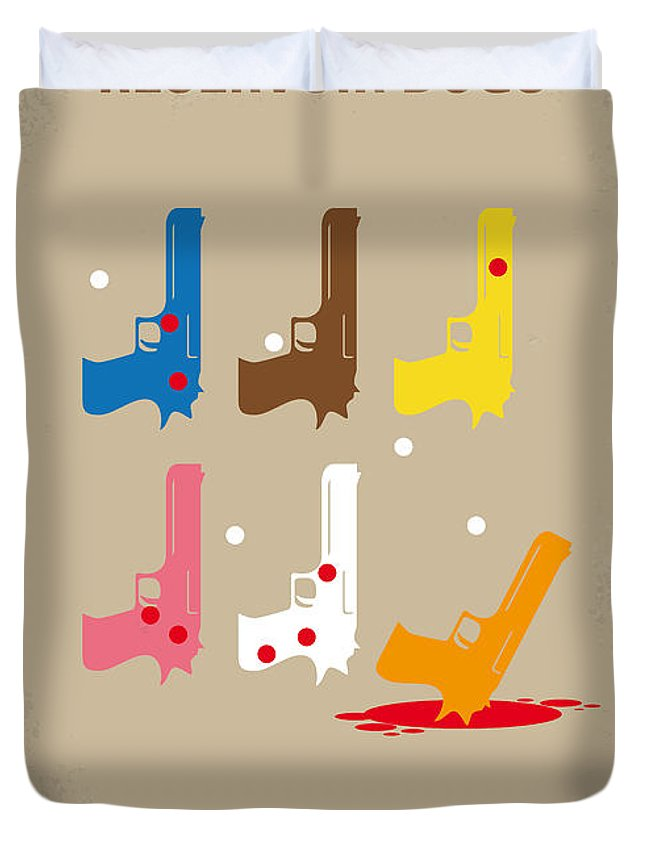Reservoir Duvet Cover featuring the digital art No069 My Reservoir Dogs Minimal Movie Poster by Chungkong Art