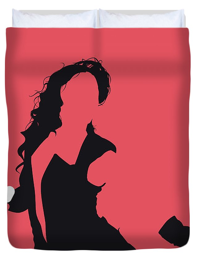 Beyonce Duvet Cover featuring the digital art No122 My Beyonce Minimal Music Poster by Chungkong Art