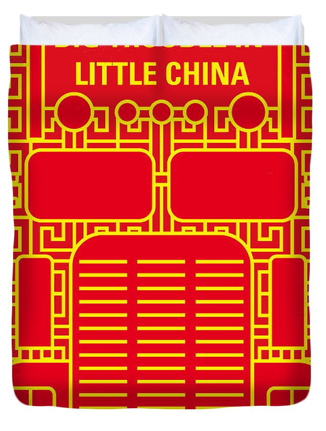 Big Duvet Cover featuring the digital art No515 My Big Trouble in Little China minimal movie poster by Chungkong Art